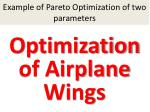 example of pareto optimization of two parameters