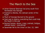 the march to the sea