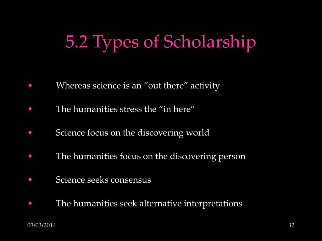 5.2 Types of Scholarship