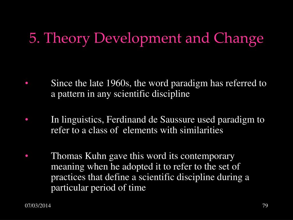 5. Theory Development and Change