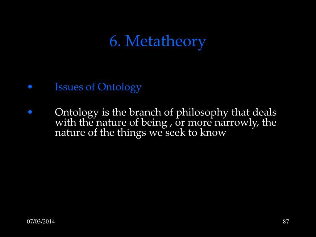 6. Metatheory
