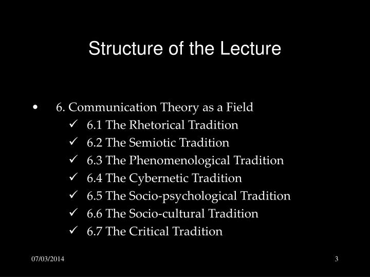 Structure of the lecture3