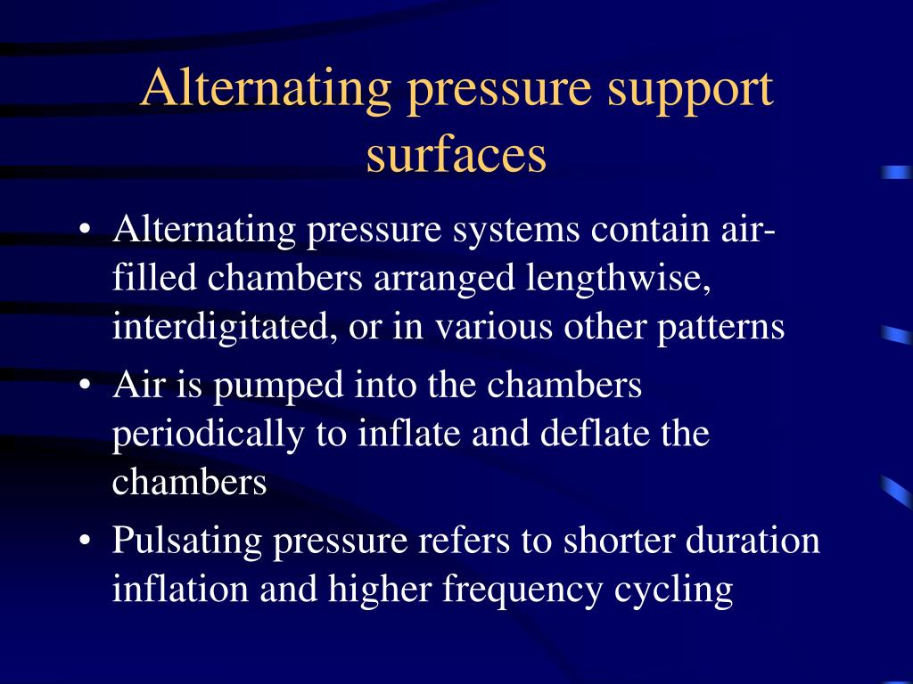 Alternating pressure support surfaces