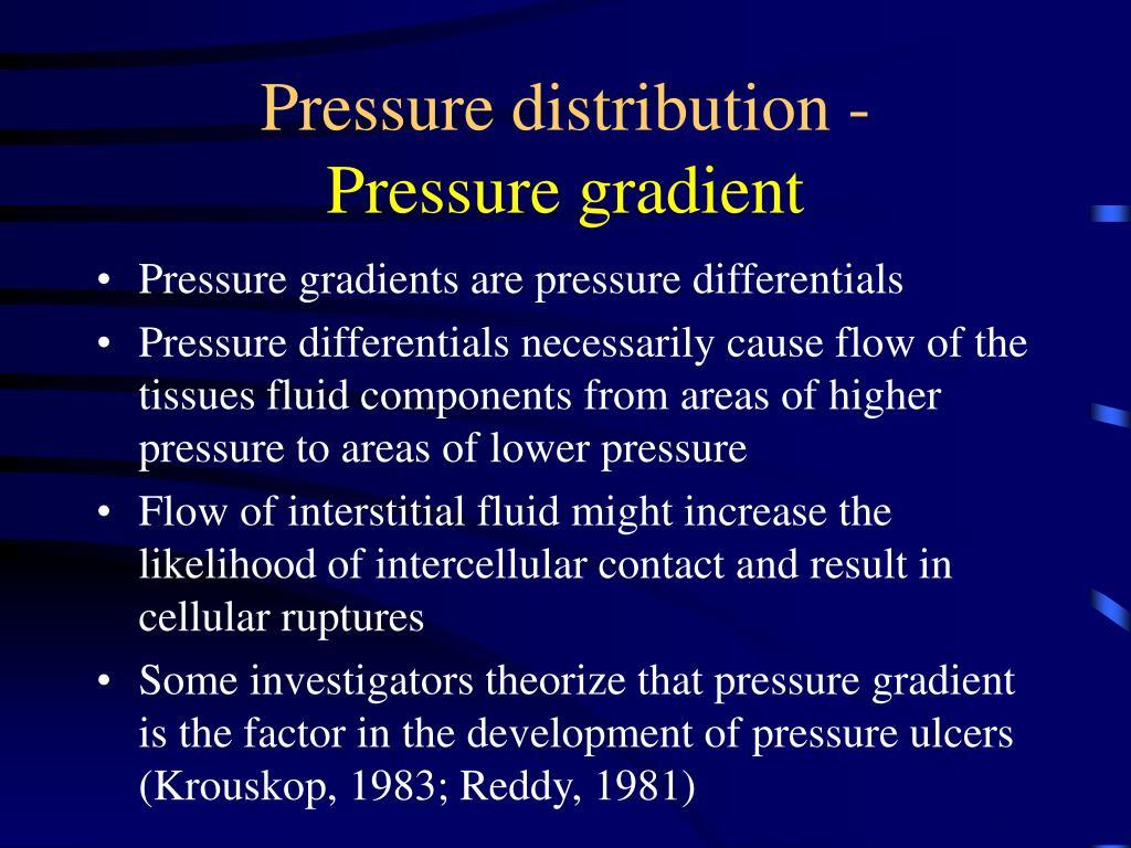 Pressure distribution -