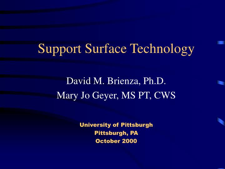 Support surface technology l.jpg