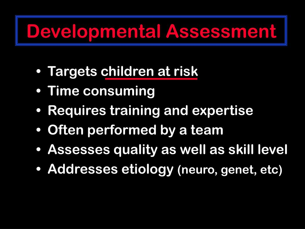 Developmental Assessment