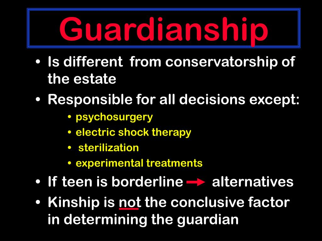 Guardianship