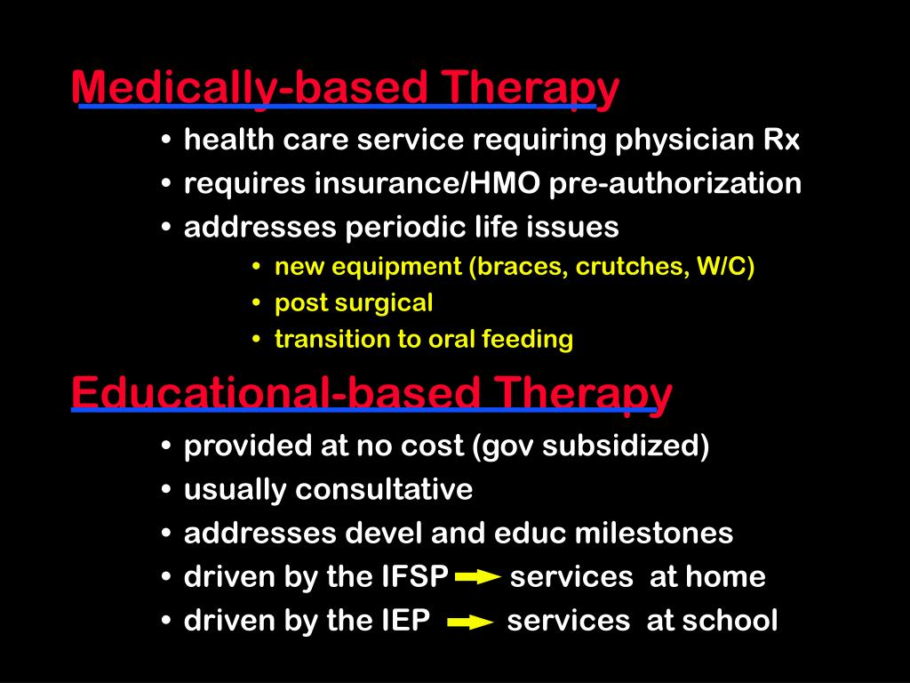 Medically-based Therapy