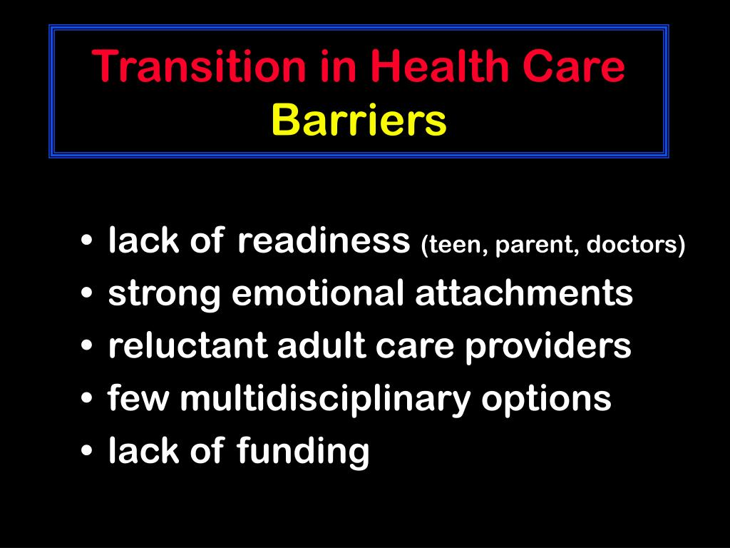 Transition in Health Care