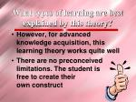what types of learning are best explained by this theory16