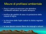 misure di profilassi ambientale
