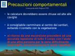 precauzioni comportamentali linee guida della regione fvg