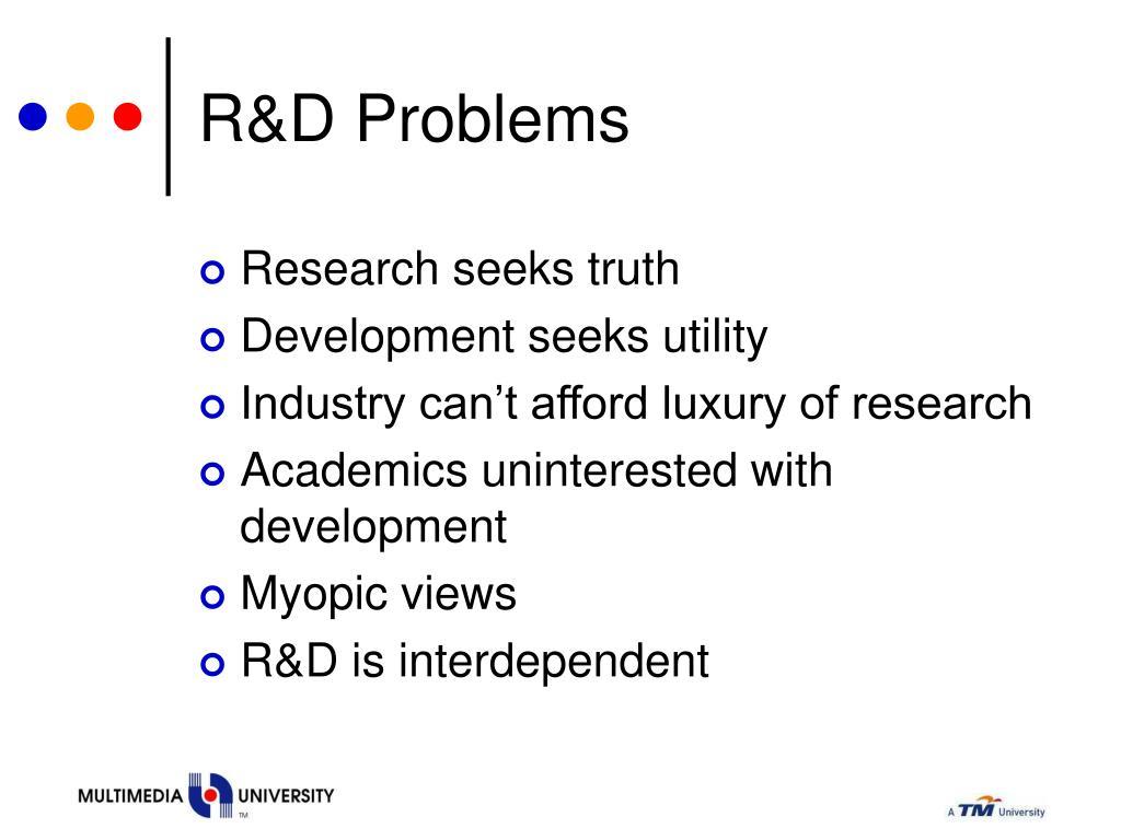 R&D Problems