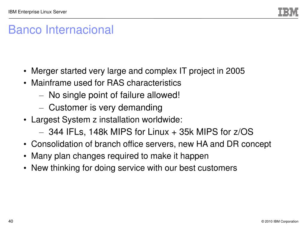 Merger started very large and complex IT project in 2005