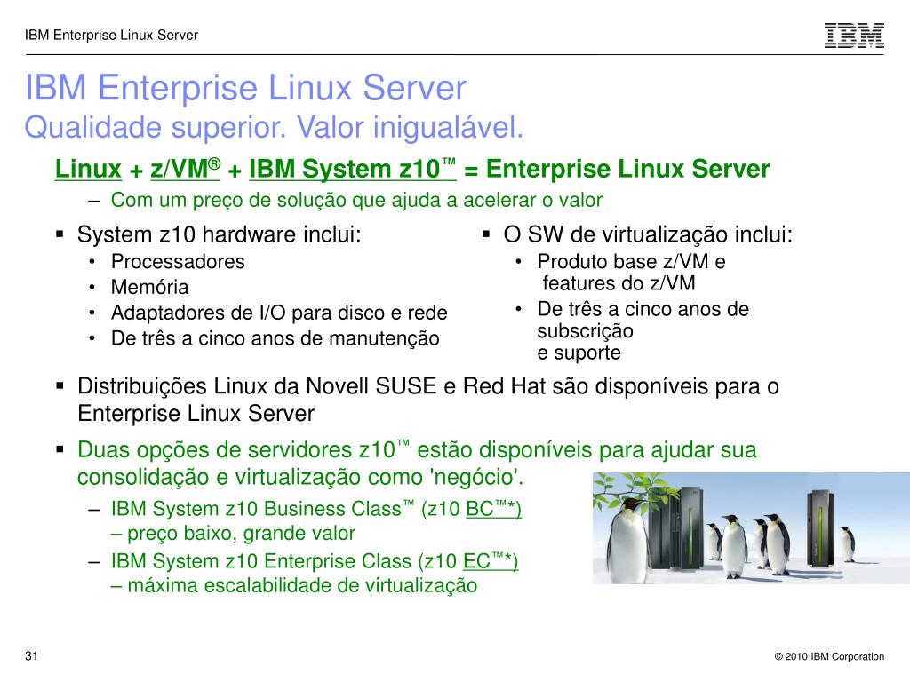 IBM Enterprise Linux Server
