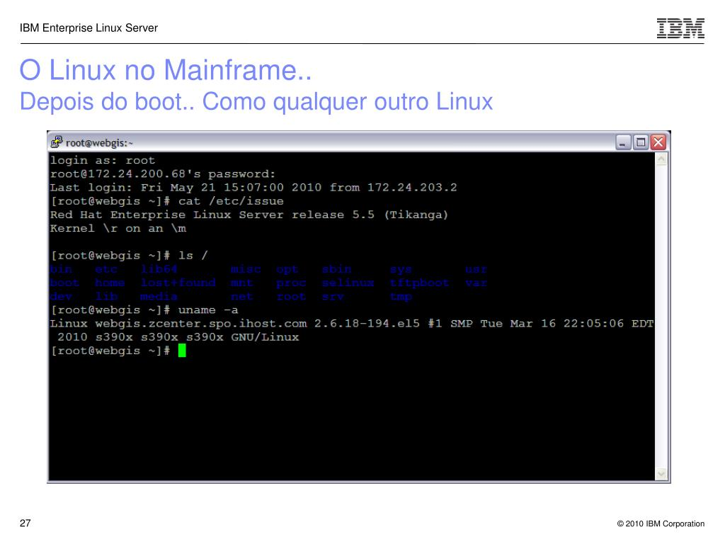 O Linux no Mainframe..
