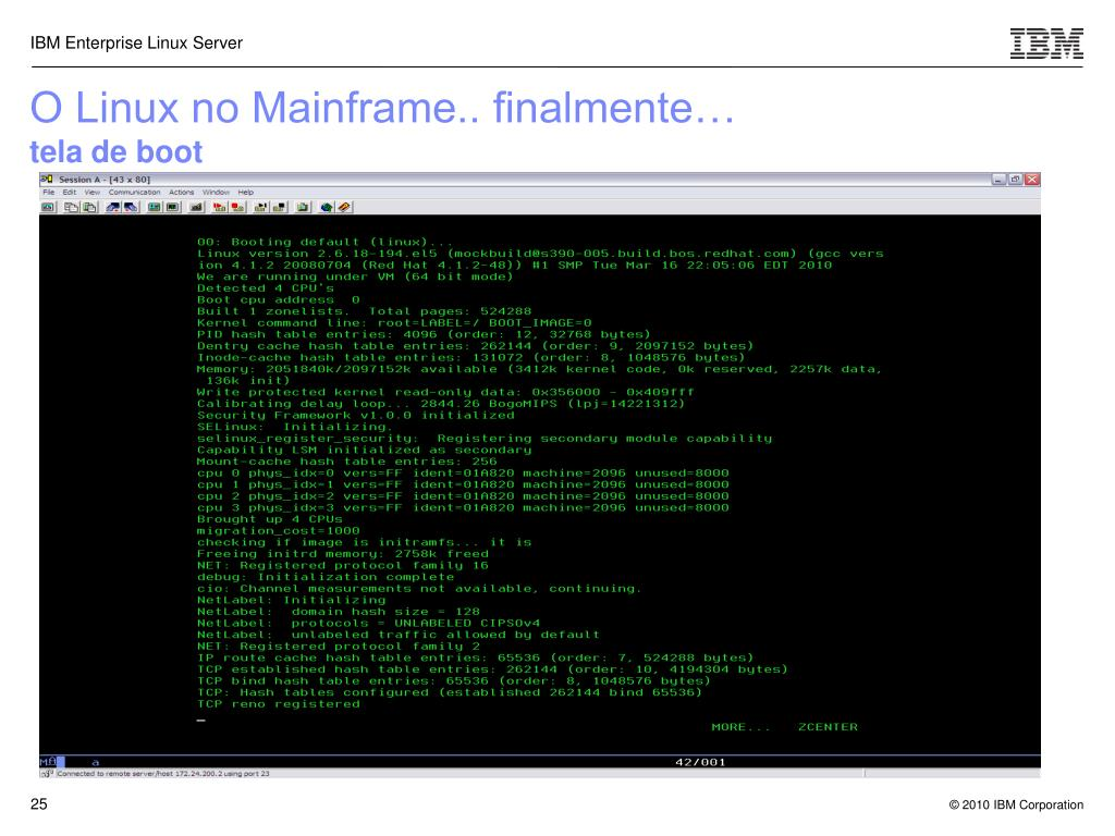 O Linux no Mainframe.. finalmente…