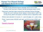 express your hispanic heritage with kleenex brand art contest