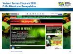 verizon torneo clausura 2009 futbol mexicano sweepstakes40