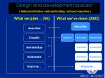 design and development process national initiative national funding national expertise