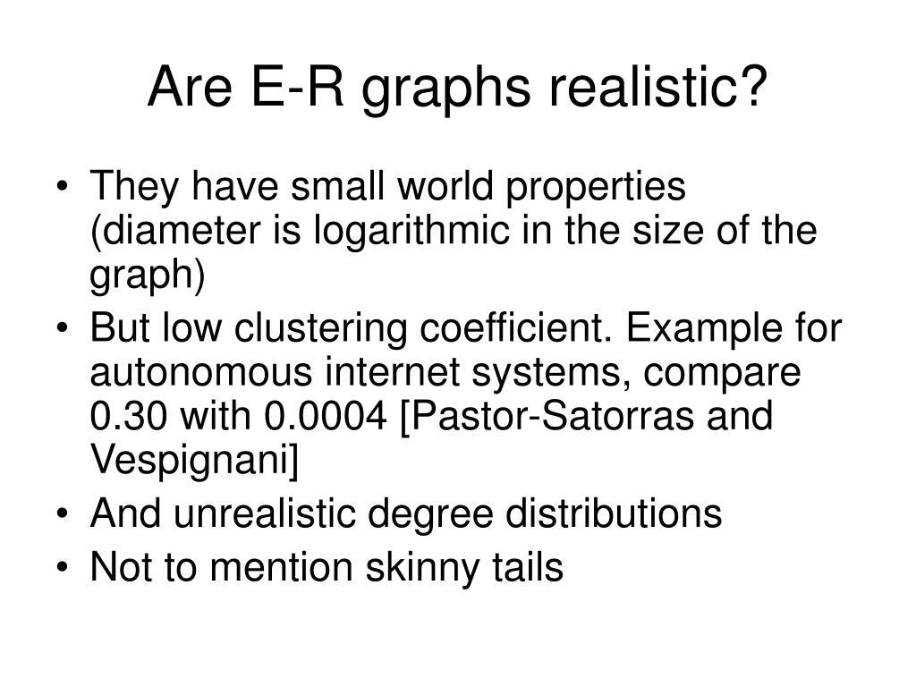 Are E-R graphs realistic?