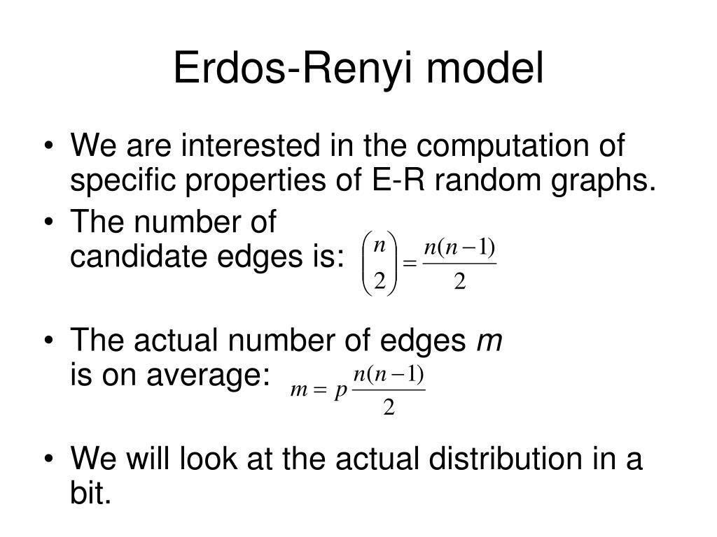 Erdos-Renyi model