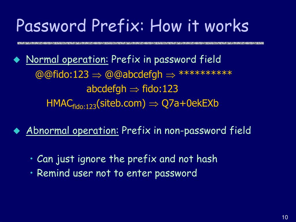 Password Prefix: How it works