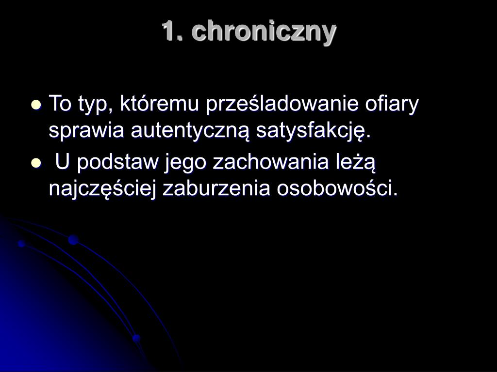 1. chroniczny