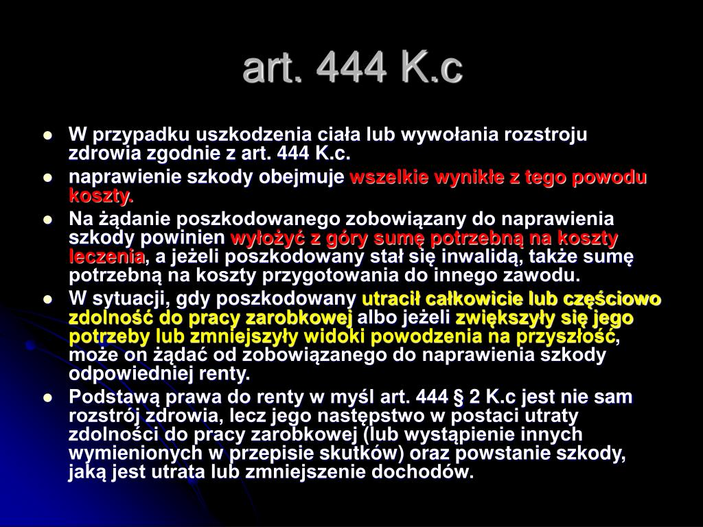 art. 444 K.c