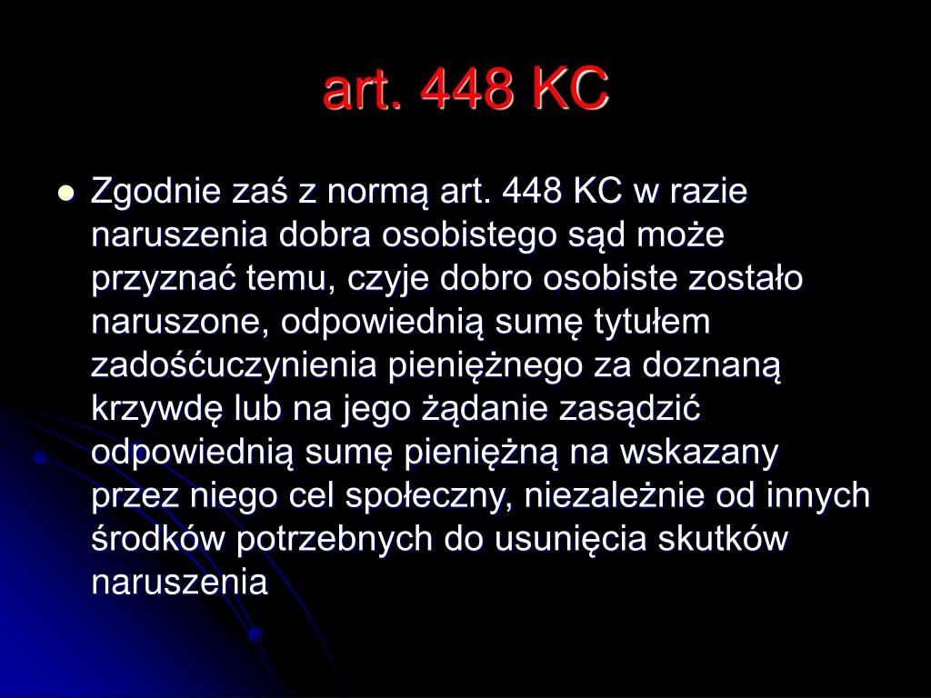 art. 448 KC