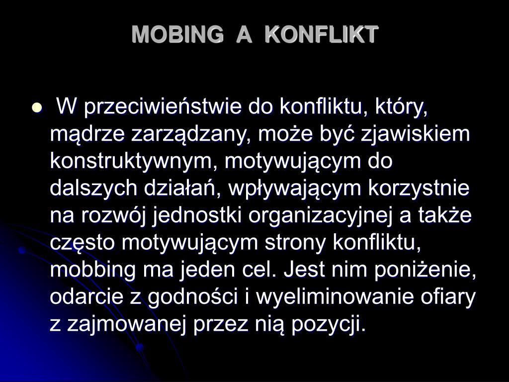 MOBING  A  KONFLIKT