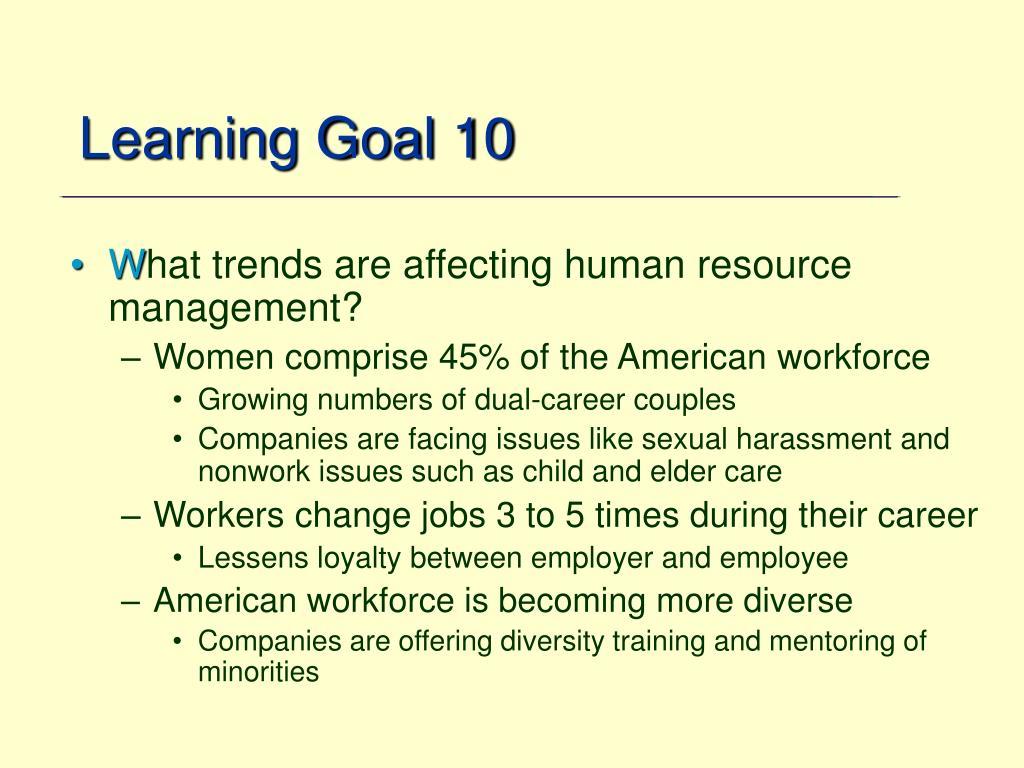 Learning Goal 10