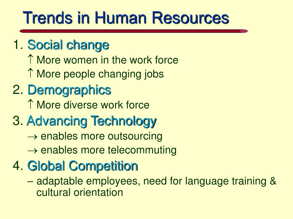 Trends in Human Resources