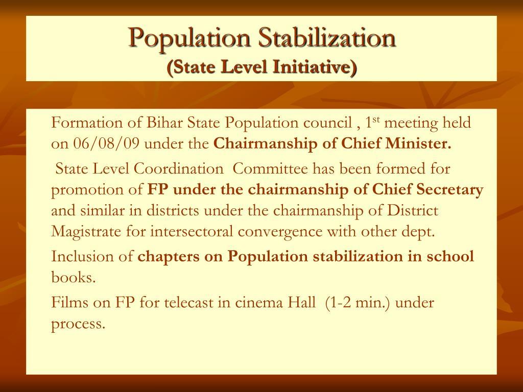 Population Stabilization