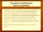 population stabilization state level initiative