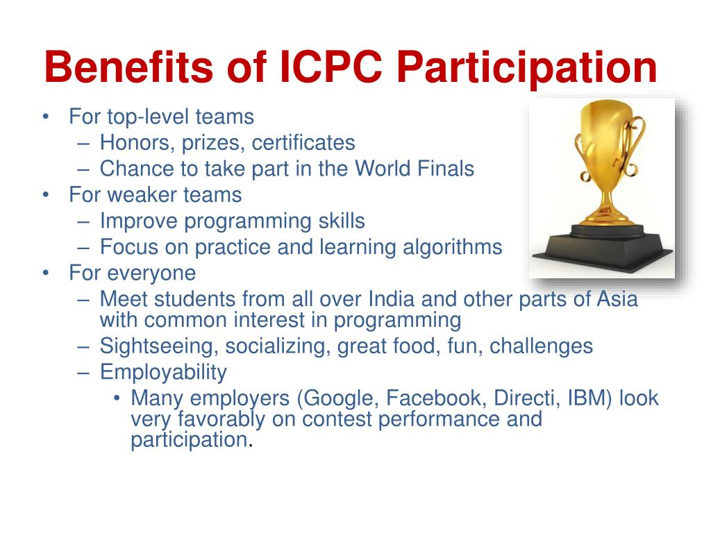 Benefits of ICPC Participation