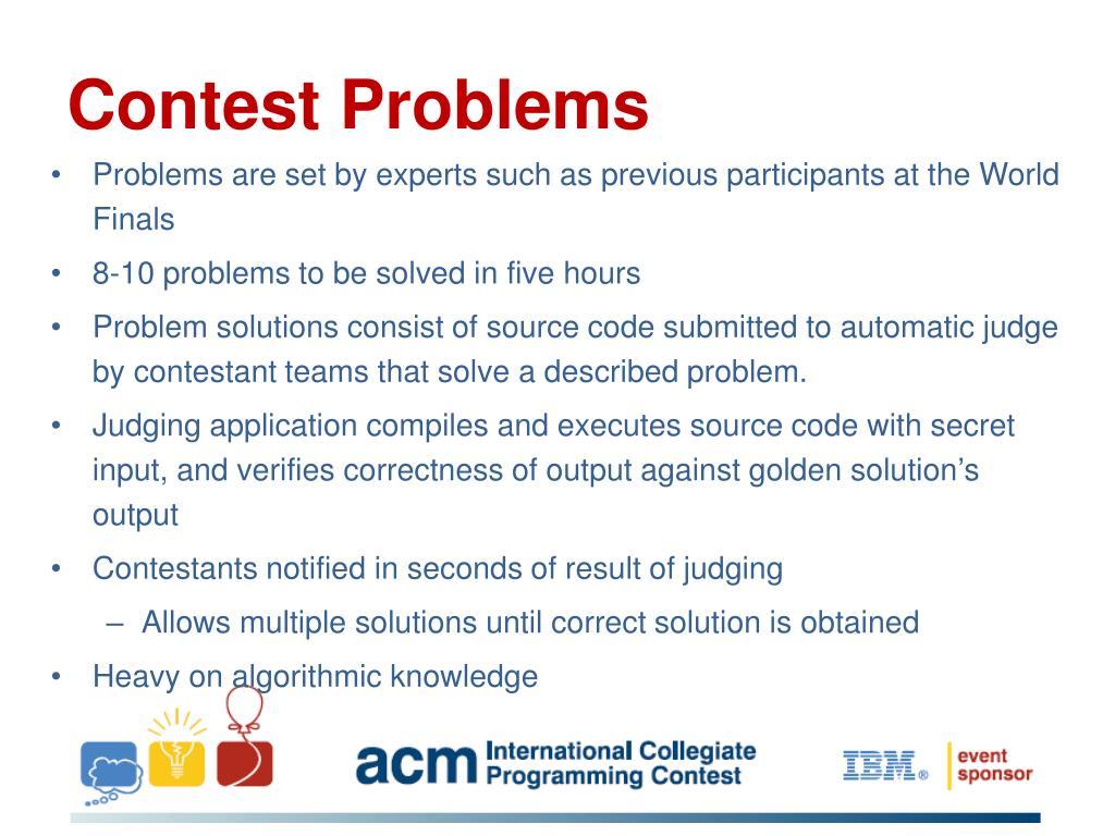 Contest Problems