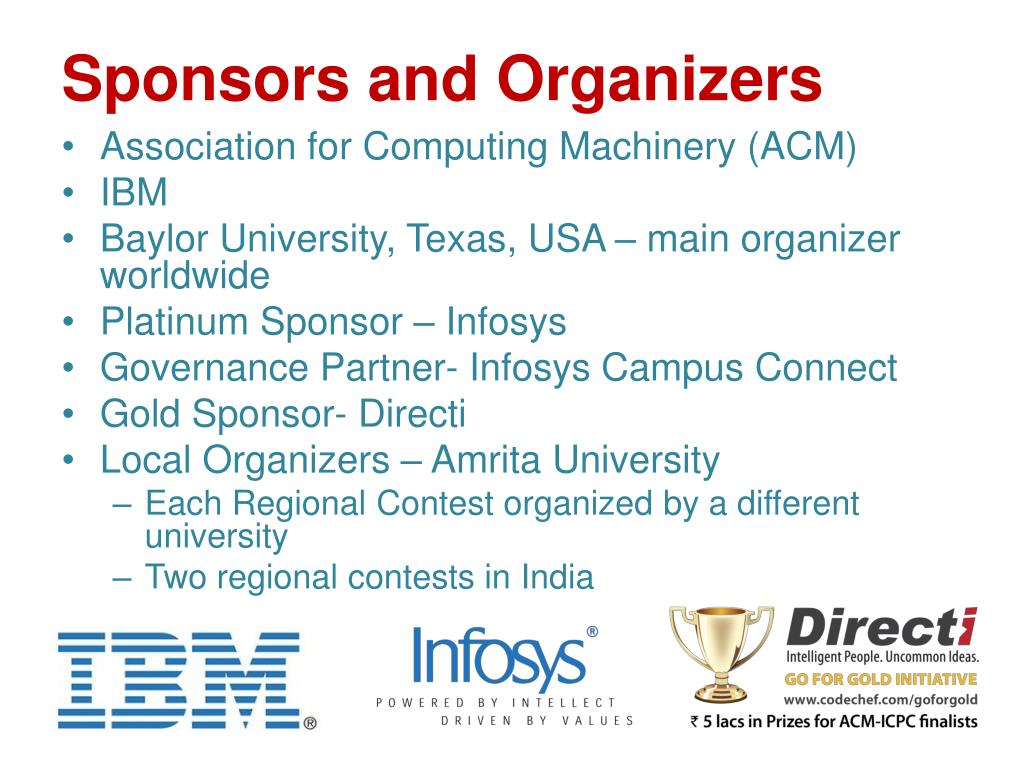 Sponsors and Organizers