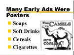 many early ads were posters