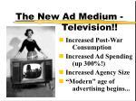the new ad medium television
