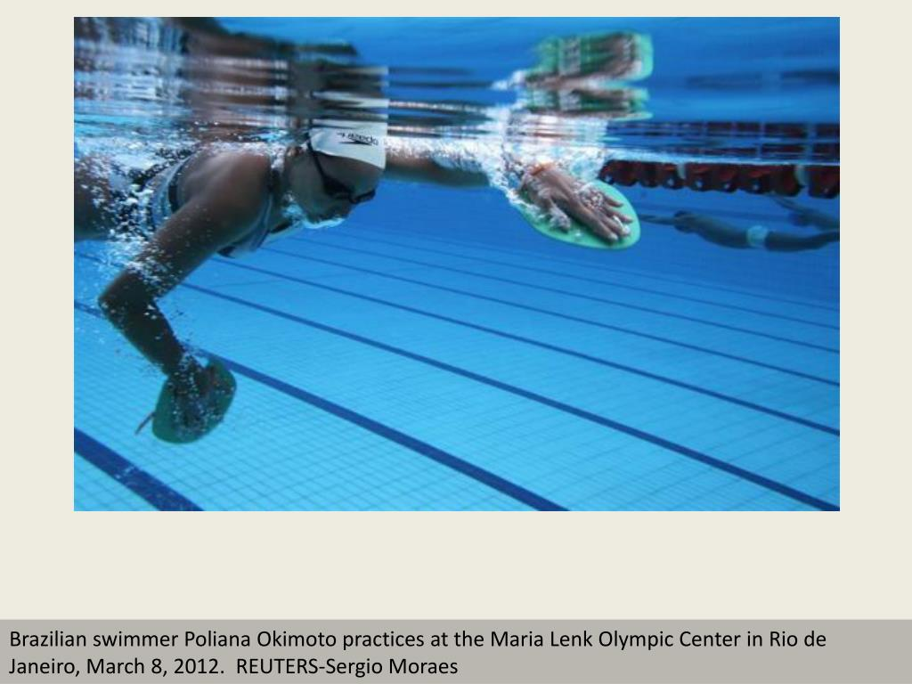 Brazilian swimmer Poliana Okimoto practices at the Maria Lenk Olympic Center in Rio de Janeiro, March 8, 2012.  REUTERS-Sergio Moraes