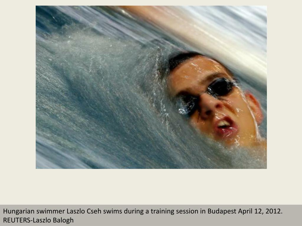 Hungarian swimmer Laszlo Cseh swims during a training session in Budapest April 12, 2012.     REUTERS-Laszlo Balogh