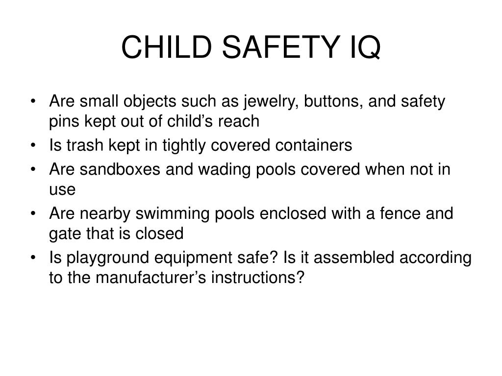 CHILD SAFETY IQ