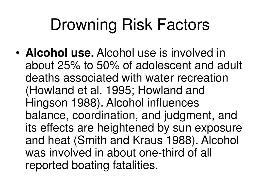 Drowning Risk Factors