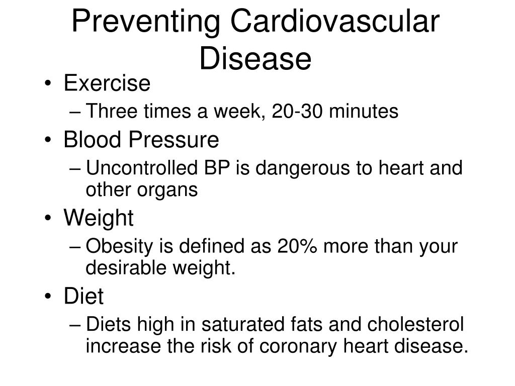 Preventing Cardiovascular Disease