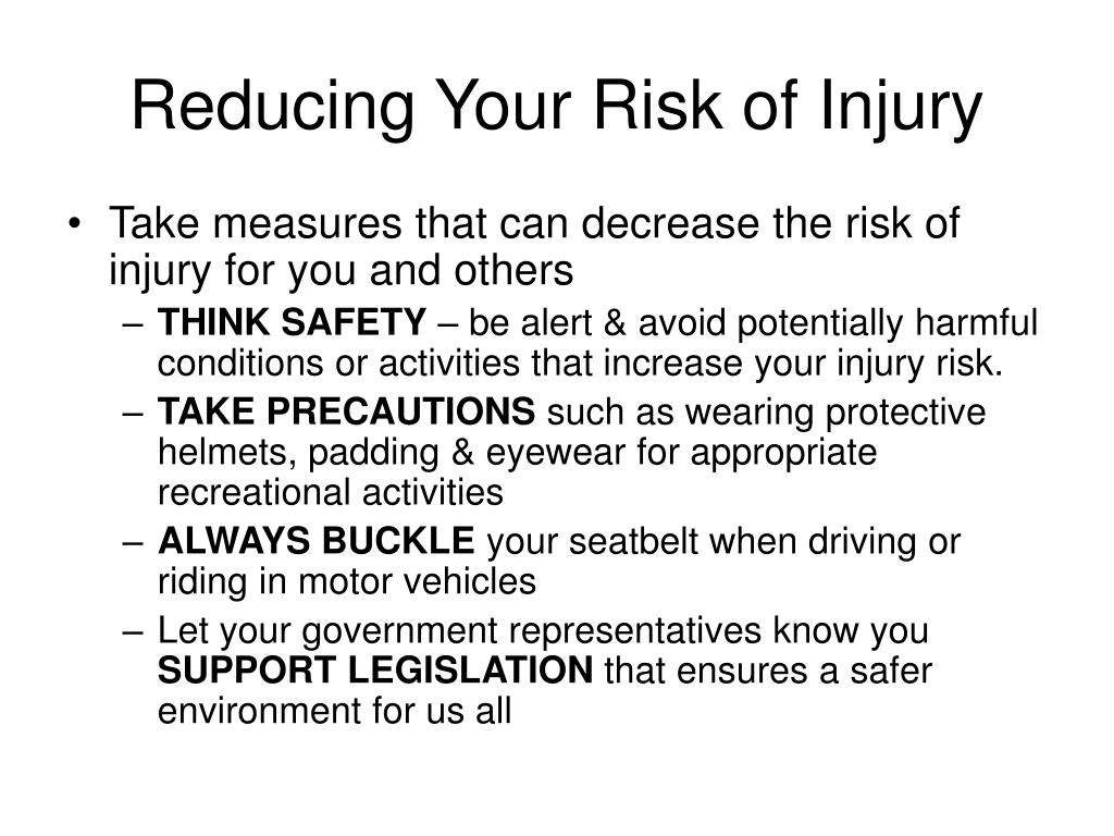 Reducing Your Risk of Injury