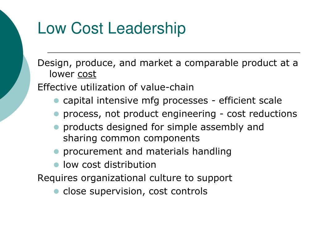 Low Cost Leadership