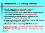 benefits from cti industry examples