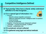 competitive intelligence defined