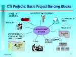 cti projects basic project building blocks